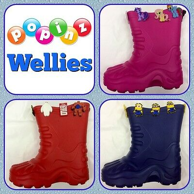 Wholesale 36 Pairs Blue Red Pink Croc Type Wellies Shoes Kids Sizes 11-3