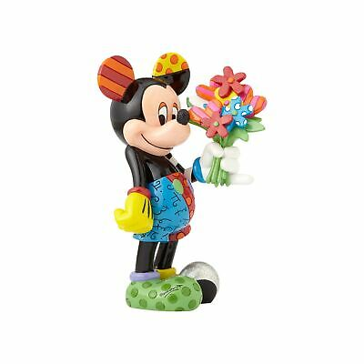 Mickey Mouse with Flowers Romero Britto NIB In-Stock Disney Free Ship Valentines