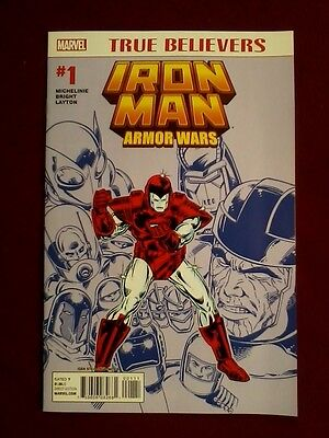 True Believers Armor Wars #1 (2015) Marvel Comics Iron Man