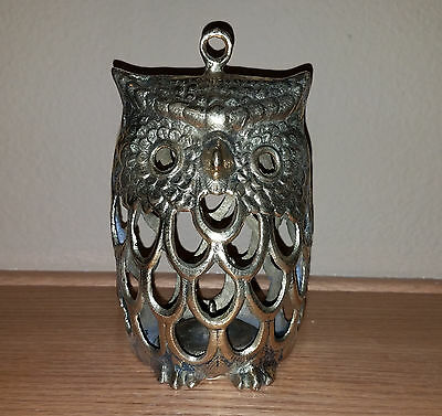 Preowned Brass Owl Candle Holder