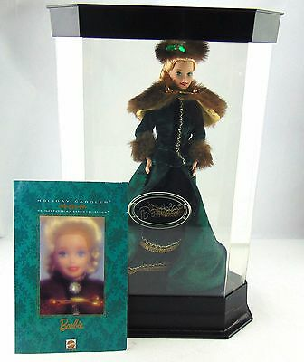 Mattel Holiday Caroler Holiday Porcelain Barbie Collection Limited Edition Used