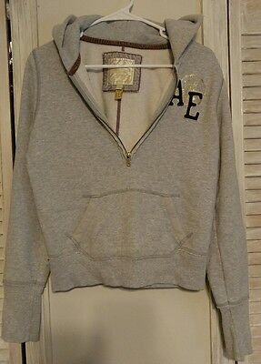 Women's American Eagle Hoodie Gray Pullover & Zip Front Size Medium