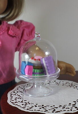 Cake Plate Stand WITH 4 Pastries for American Girl Doll Food LOVV THAT LOVVBUGG!
