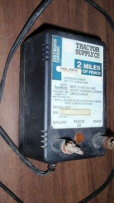 Electric Fence Charger - 120 Volt - Nice - Keep Cattle In - Keep Garden Pest Out