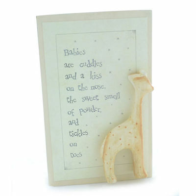 East of India WOOD Wooden RUSTIC Block Ornament New BABY Love NURSERY GIFT