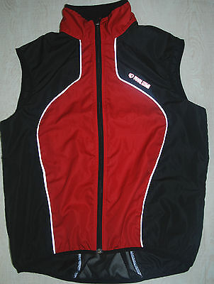 Pearl Izumi Sleeveless Cycling Jersey Vest Full Zip Mesh Breathable Red Black L