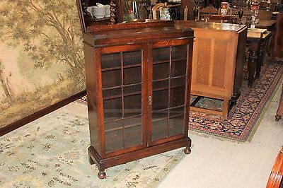 Beautiful English Antique Georgian Oak Bookcase / Display Cabinet.