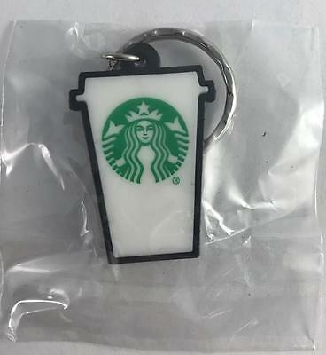 NEW Lot of 2 Starbucks Coffee Cup Mug Keychains 1 1/2""