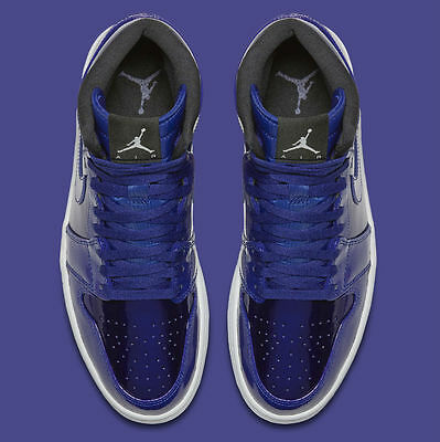 92acfdb50f945e 2016 Air Jordan 1 I High Retro Patent Leather Deep Royal Blue 332550 420 9-