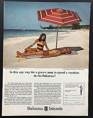 1967 Vintage Ad | 1960s Bahama Islands Travel Vacation Beach Summer Ocean