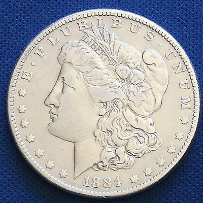 1884 Morgan Silver Dollar $1 Coin 90% #1