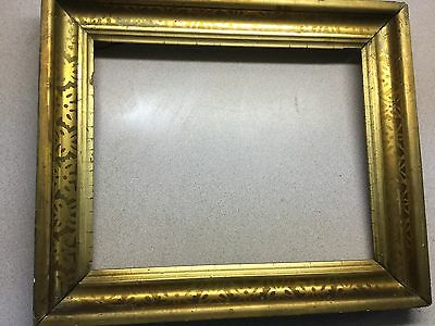 Antique Stenciled Gilt 19th Century Picture Frame