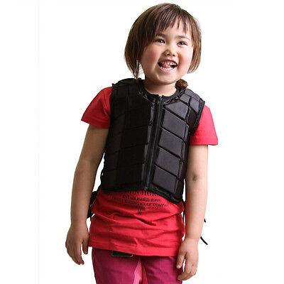 kids Equestrian Body Protector Horse Ride Safe Riding Wear Soft Adjustable