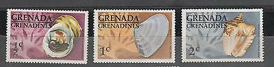 Grenada Grenadines 1976 SHELLS to 2c fv unused SG#139-141 MUH