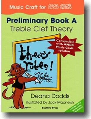 Music Craft for COOL CATS - Preliminary Book A - Treble Clef Theory - Music Book