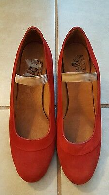 Flamenco dance shoes red suede sz 9