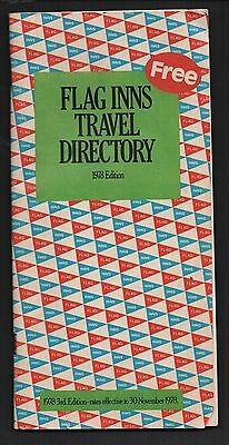 Vintage 1978 Flag Inns Hotel /  Motel Travel Directory 140 Pages