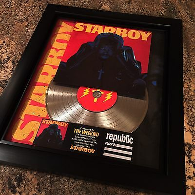 The Weeknd Starboy Platinum Record Disc Album Music Award RIAA MTV Grammy