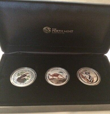 2015 Australian Outback 3 Coin 999 Fine Silver Proof, LIMITED 0268 of 2000!