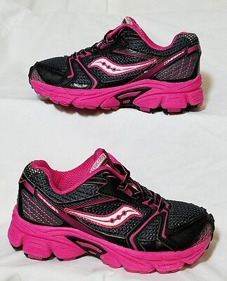 SAUCONY COHESION 5 Girls/Youth Pink Black Athletic/Casual Shoes Size 11