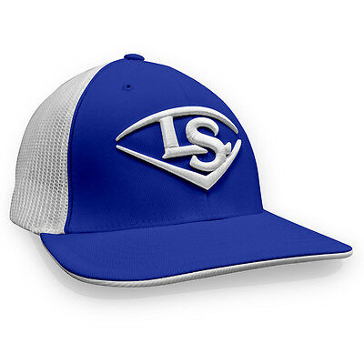 Louisville Slugger LS Logo Baseball/Softball Trucker Hat - Royal/White - S/M