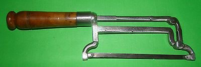 Superb Antique Medical Surgical Amputation Saw Mahogony Handle Ca 1750  Museumpc