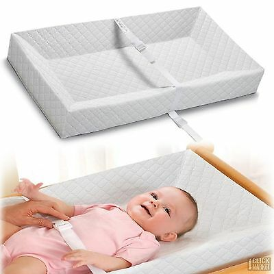 Baby Diaper Changing Table Pad Infant Portable Dresser 4 Sided Foam Nursery Mat