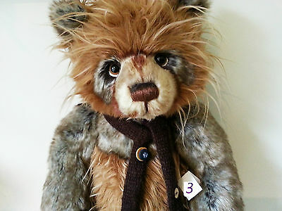 """SALE  Last One ....Handmade  Fully Jointed Charlie Bear """"Scarecrow"""""""