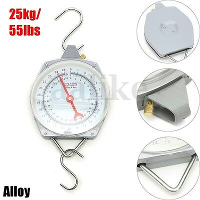 25kg 55lbs Capacity Alloy Mechanical Hanging Scales Mechanical With 2 Hooks