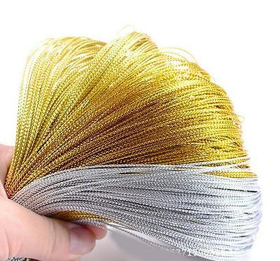 100M Metallic Silver Gold Purl Wire Coil Cord Craft Jewelry 1.0mm DIY