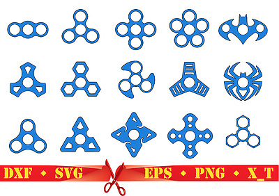 Fidget Spinner DXF, SVG, EPS, PNG, X_T Digital Graphic & Cut Files