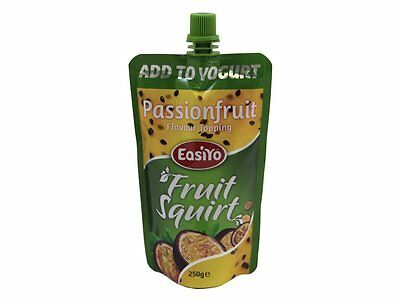 Easiyo Passionfruit Pouch Real Fruit Topping Squirt Add To Yogurt IceCream Puree