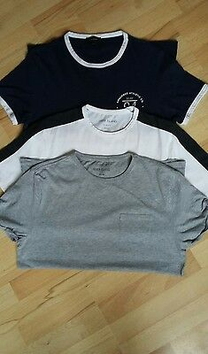 Three Mens Smart River Island T Shirts Two Size  Medium One Large