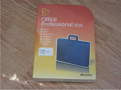 Microsoft Office Professional 2010 32/64 Bit DVD (Retail Version in Box)