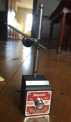 "Starrett No. 657 Magnetic Base 4.5"" Post w/ Snug NICE"