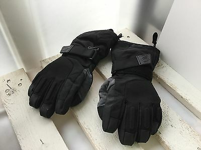 Scott black snowboarding gloves with wrist protectors sz Youth Large 6.5