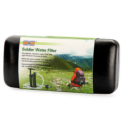 Portable Soldier Water Filter Purifier Cleaner Outdoor Survival Hiking Camping