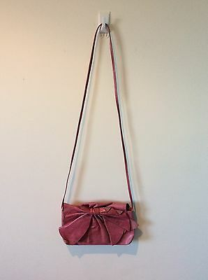 Gorman Bag (small) Authentic Soft Leather- Pink/bow