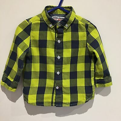 Next Baby Boys Checked Shirt Age 9-12 Months