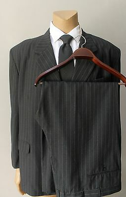 Stacy Adams Men's Pinstriped 2 Two Piece 3 Button Classic Suit Big Tall Size 52R