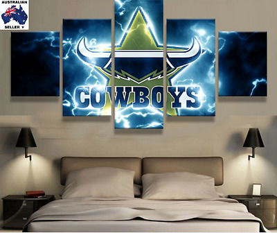 North Queensland Cowboys Modern Wall Decor Canvas Print & Receive LED Light Free