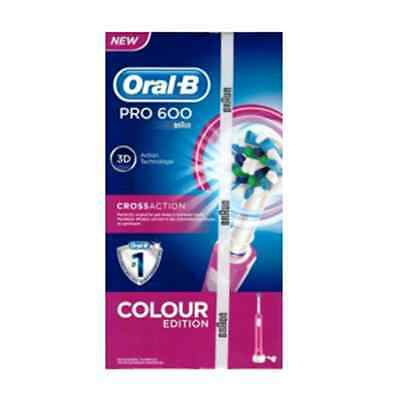 Oralb PRO 600 rosa cross-action