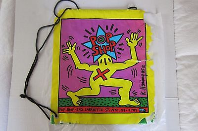 Keith Haring Pop Shop NYC Plastic Tote Shopping Bag 1985