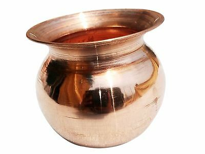 100% Copper Water Lota/Pot 950 ML Yoga Ayurveda Health pitcher(Big)