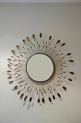 Espejo vintage sol metal 60's sunburst mirror metal antique sunburst