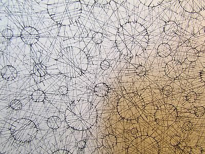 Mass outsider art abstract doodle space balls science atom bw geometric design