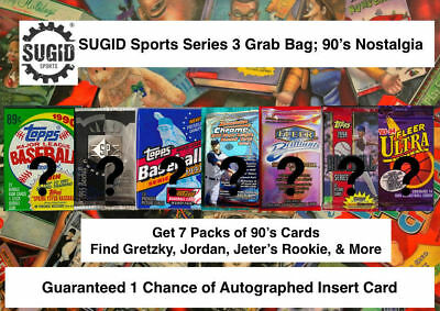 1990's Nostalgia Unopened Packs from Box 100+ Card Lot; Autographed Card Chance