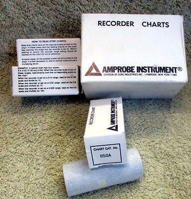 AMPROBE 850A Instrument Recorder Charts - NEW