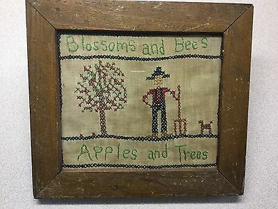 "Antique Sampler ""Blossoms and Bees, Apples and Trees"""