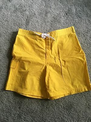 Mens Brooks Brothers 346 Yellow Bathing Swim Trunks Suit Board Shorts size 35